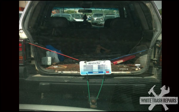New way to display your license plate – White Trash Repairs