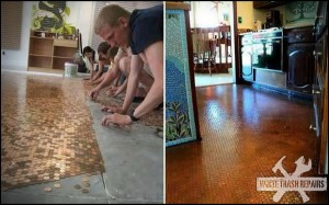 Penny Floor – White Trash Repairs