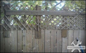 Gettho fence repair – White Trash Repairs