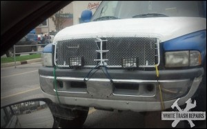 New Truck Grill – White Trash Repairs