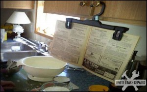 Cookbook Hanger – White Trash Repairs