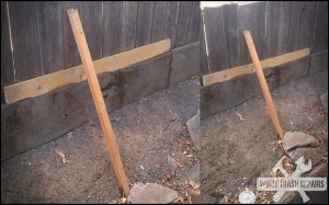 The fence is fixed – White Trash Repairs