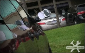 Side mirror repair – White Trash Repairs