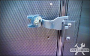 Stall door latch – White Trash Repairs
