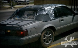 Duct tape convertible – White Trash Repairs