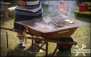 Wheelbarrow BBQ – White Trash Repairs