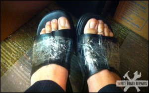 Broken Sandals Fix – White Trash Repairs