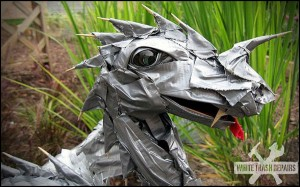 Duct Tape Dragon Art – White Trash Repairs