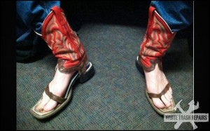 Cowboy Sandals – White Trash Repairs