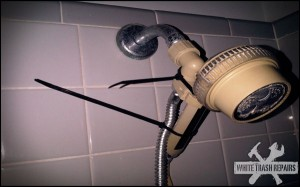 Zip Tie Shower – White Trash Repairs