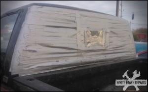 Back glass repair – White Trash Repairs