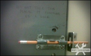 School Bathroom Lock – White Trash Repairs