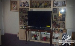 Flat screen T.V. Too Big – White Trash Repairs
