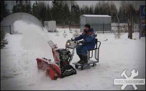 Relaxing Snow Blowing