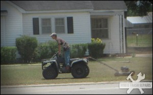 Mowing the Grass…