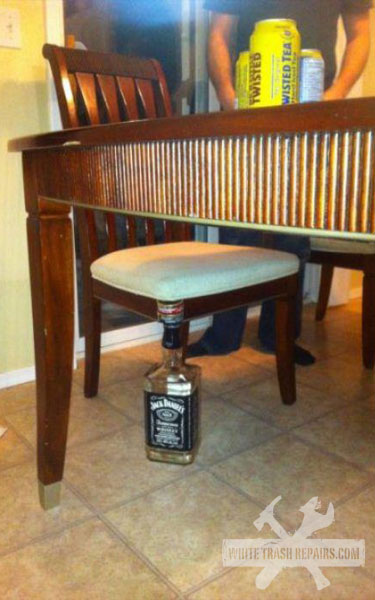 Jacked up Chair