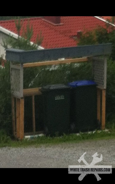 Norwegian garbage can shelter