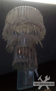 White Trash Chandelier