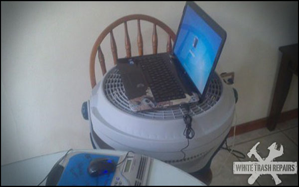 Redneck Laptop Cooler
