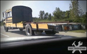 Flat Bed Bus