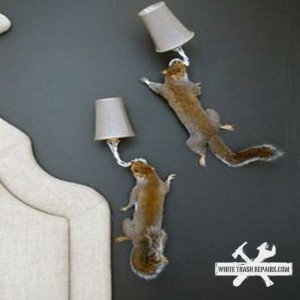 Squirrel Sconce