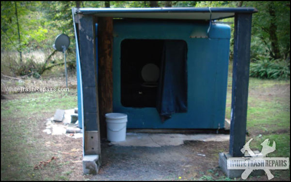 Redneck Trucker Outhouse