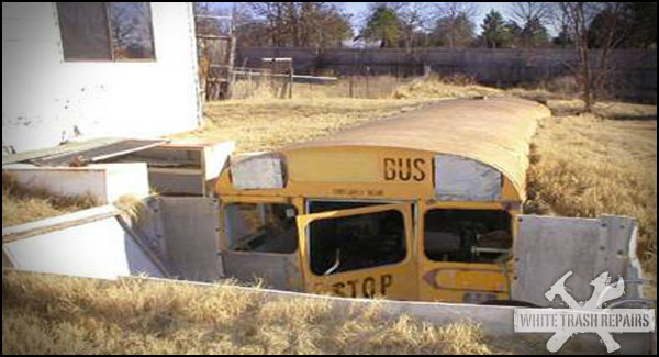 OLD BUS BURIED